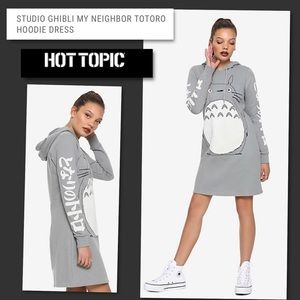 Hot Topic Gray Ghibli Totoro Hoodie Dress XL NWT